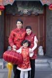 La famiglia celebra il nuovo anno cinese Fotografie Stock Libere da Diritti
