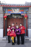 La famiglia celebra il nuovo anno cinese Fotografia Stock Libera da Diritti