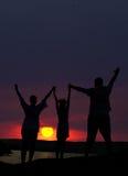 La famiglia da tre persone Fotografia Stock Libera da Diritti
