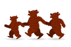 La famiglia dell'orso Fotografia Stock Libera da Diritti