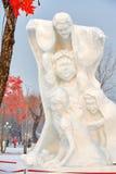 La famiglia della neve Fotografia Stock Libera da Diritti