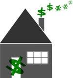 La famiglia finanzia la casa del preventivo Immagine Stock Libera da Diritti