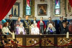 La famiglia reale dell'Inghilterra Fotografia Stock
