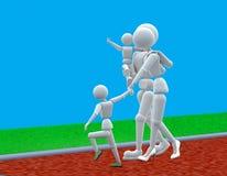 La famiglia va a fare una passeggiata royalty illustrazione gratis