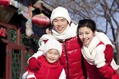La familia celebra Año Nuevo chino Imágenes de archivo libres de regalías
