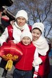 La familia celebra Año Nuevo chino Fotografía de archivo