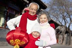 La familia celebra Año Nuevo chino Imagenes de archivo
