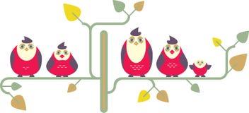 La familia de pájaros stock de ilustración