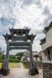 La familia de Zhou adornó la arcada Imagenes de archivo
