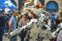 La familia del espejo, festival internacional del teatro de la calle del B-ajuste, Fotos de archivo libres de regalías