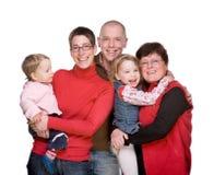 La familia entera Imagen de archivo libre de regalías