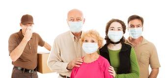 La familia evita la gripe Fotografía de archivo