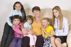 La familia grande Imagen de archivo libre de regalías