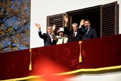 La familia real de Rumania Foto de archivo