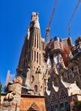 La Familia Sagrada,未完成的大教堂,巴塞罗那,西班牙 免版税图库摄影