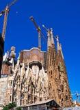 La Familia Sagrada,未完成的大教堂,巴塞罗那,西班牙 图库摄影