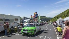La familia Skoda - Tour de France 2016 Fotografía de archivo