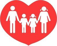 La familia unió en amor stock de ilustración