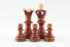 La famille d'échecs. Photo stock