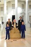 La famille de Lincoln Images libres de droits