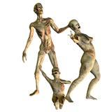 La famille de zombi Photographie stock