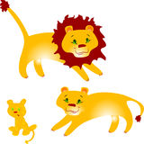 La famille du lion illustration stock