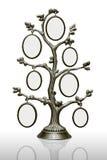 la famille encadre l'arbre en métal Photo stock