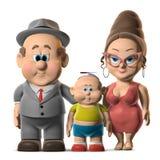 La famille heureuse Photos libres de droits