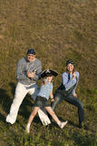 Famille heureuse de pirate Photo stock