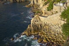 La famoso Quebrada do penhasco do mergulho em Acapulco Fotografia de Stock