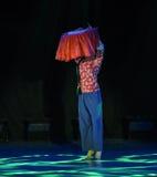 La fan de seda roja Foto de archivo libre de regalías