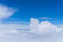 la fantasia si appanna lo skyscape del cielo Vista dalla finestra di un aeroplano Fotografia Stock Libera da Diritti