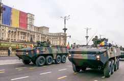 La fanteria combatte le macchine Immagini Stock Libere da Diritti