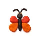 La farfalla del plasticine Fotografia Stock