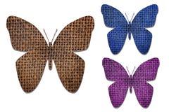 La farfalla ha tagliato dal sacco Fotografie Stock