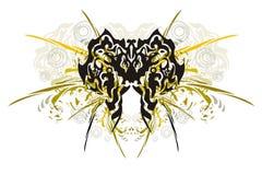 La farfalla tribale con spruzza Fotografia Stock Libera da Diritti