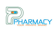 La farmacia droga Logo Object medico Fotografia Stock Libera da Diritti