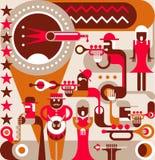 La fascia di jazz royalty illustrazione gratis