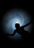 La fascination de l'homme - silhouette Image libre de droits