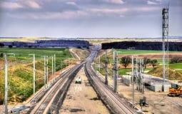 La fase de alta velocidad II del ferrocarril LGV Est bajo construcción cerca ahorra Fotografía de archivo libre de regalías