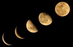 La fase de la luna imagen de archivo libre de regalías