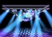 La fase della discoteca illumina la costruzione immagine stock libera da diritti