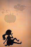 La fata madrina e le tonalità e Cenerentola della zucca ombreggiano il burattino Fotografie Stock