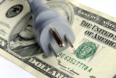 La fattura elettrica mensile è molto costosa fotografie stock