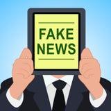 La fausse Tablette d'actualités signifie l'illustration alternative des faits 3d illustration libre de droits