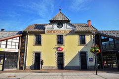 La Fayet Saint Gervais railway station Stock Image