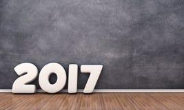 La fecha 2017 stock de ilustración