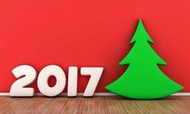 La fecha 2017 ilustración del vector