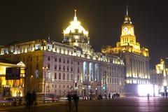 La Federación de Shangai en la noche Fotografía de archivo