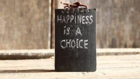 La felicidad es un texto bien escogido almacen de metraje de vídeo